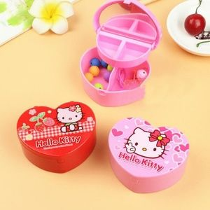 Hello Kitty Small Jewelry Box Choose Pink or Red